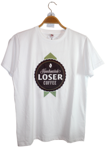Shirt mit Druck Loser Coffee Bar