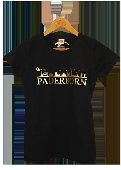 T Shirt Golddruck Skyline Paderborn