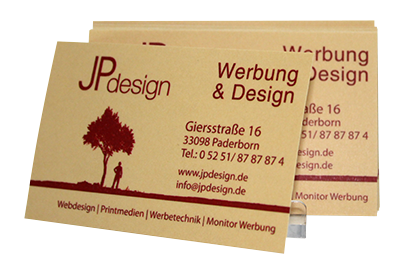 Visitenkarten JPdesign Red